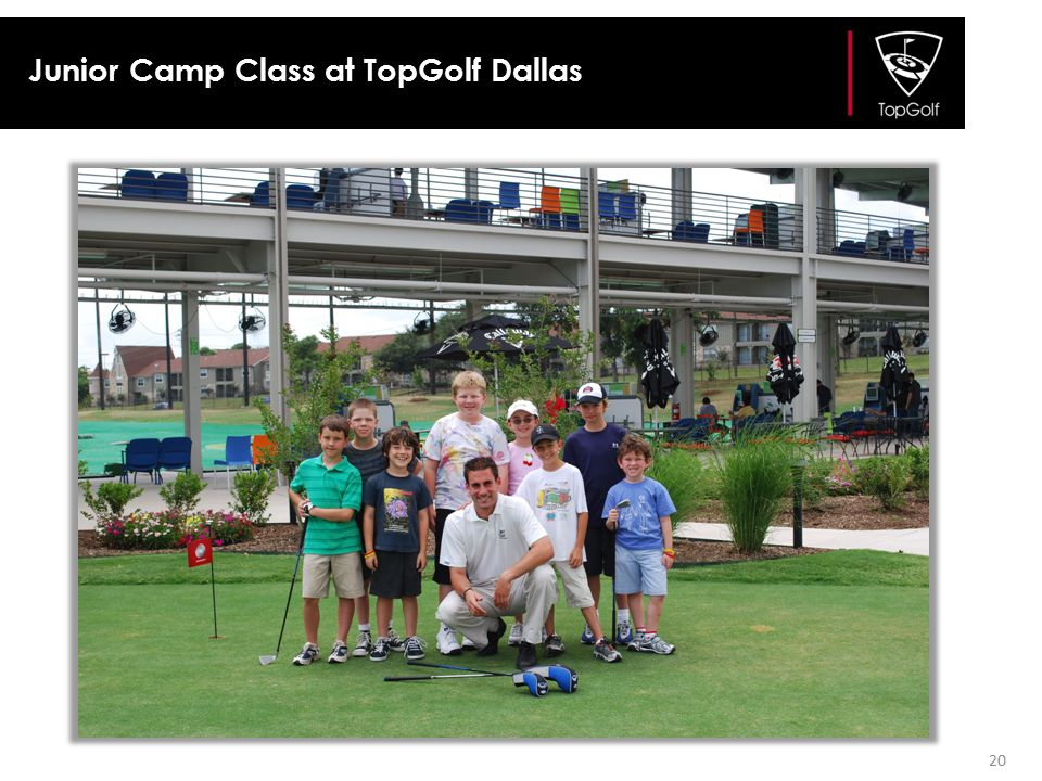 Junior Camp Class at TopGolf Dallas