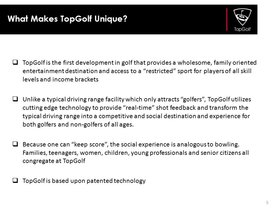 What Makes TopGolf Unique