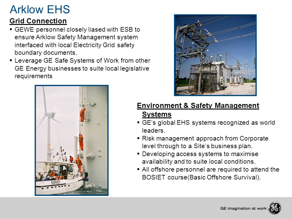 Arklow EHS Grid Connection Environment & Safety Management Systems