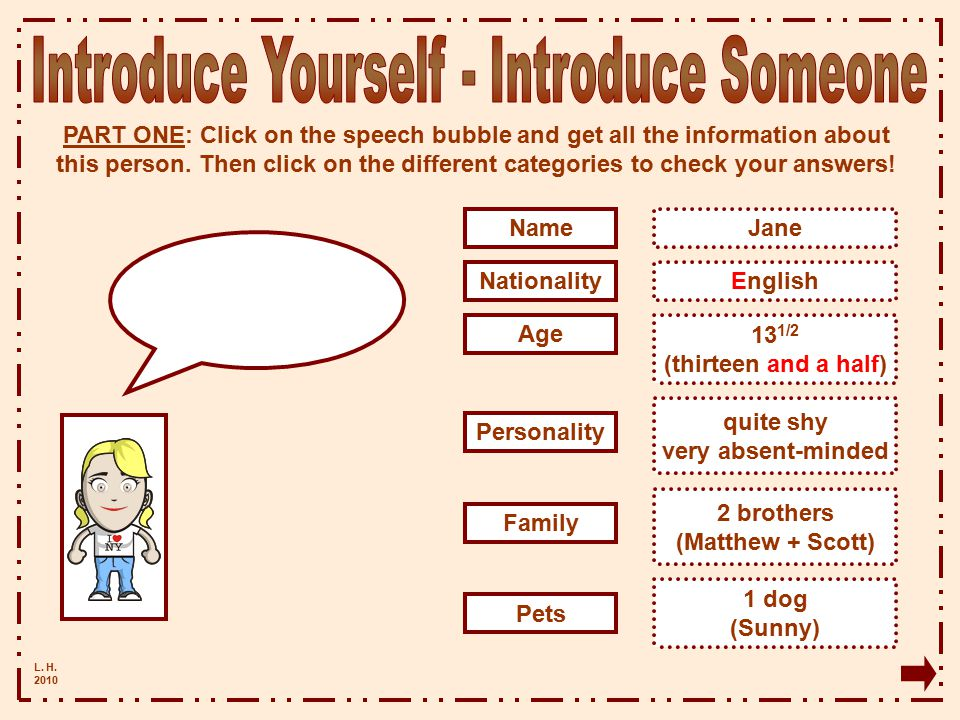 Introduce Yourself - Introduce Someone
