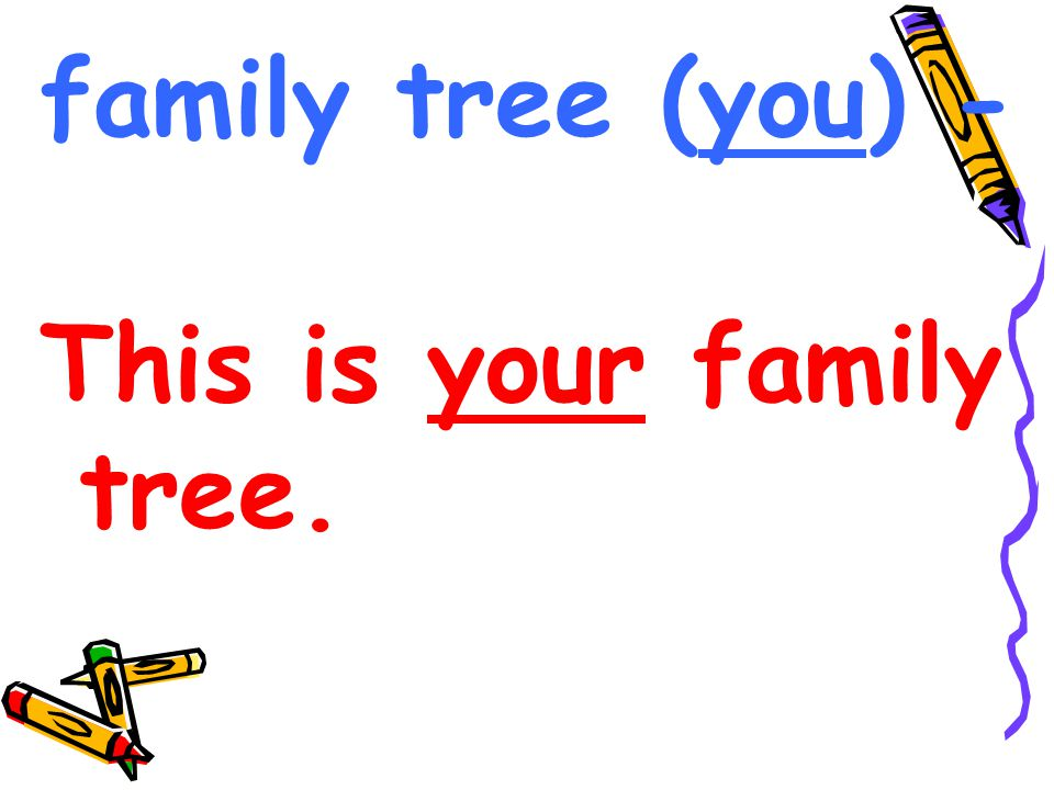 family tree (you) - This is your family tree.