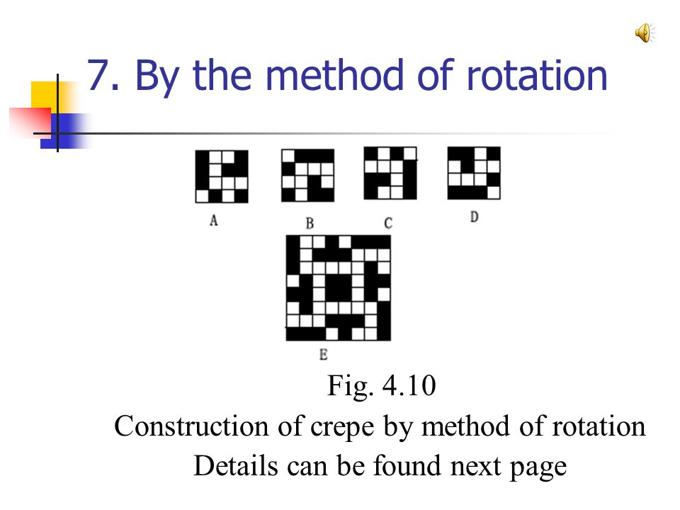 7. By the method of rotation