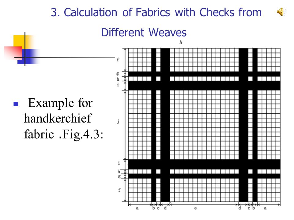 3. Calculation of Fabrics with Checks from Different Weaves