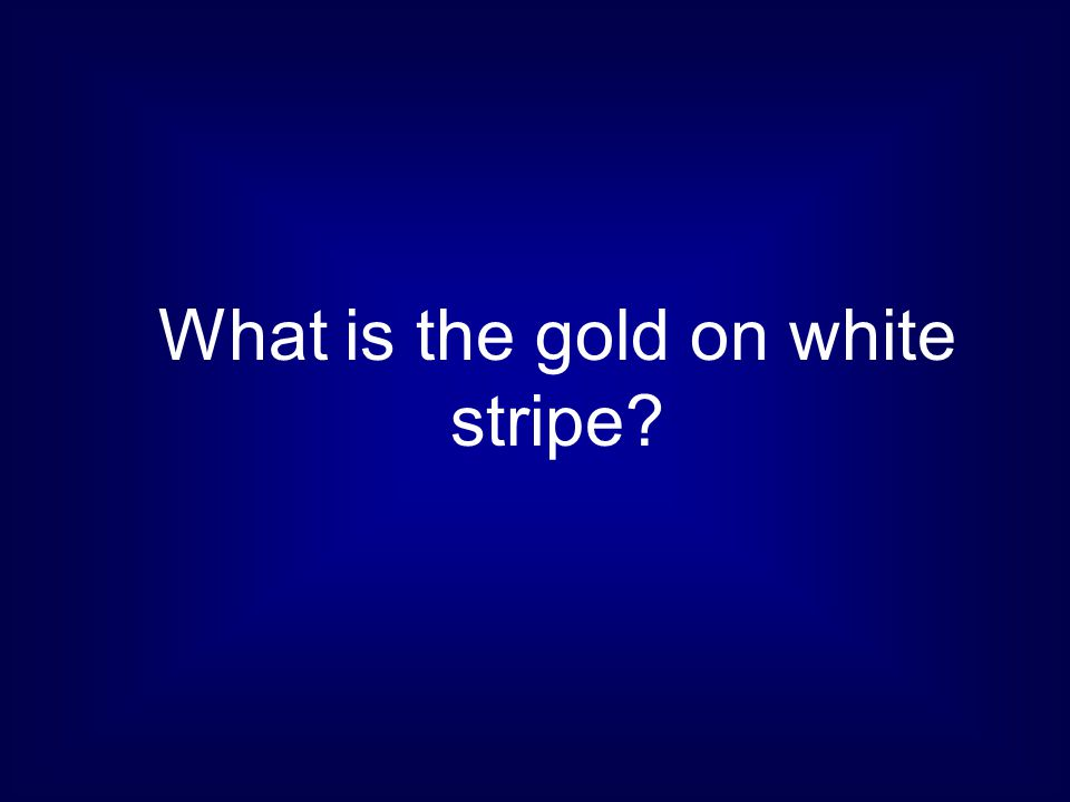 What is the gold on white stripe