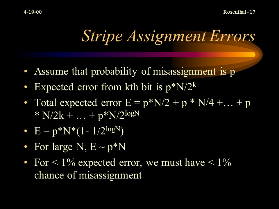 Stripe Assignment Errors