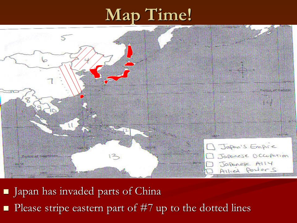Map Time! Japan has invaded parts of China