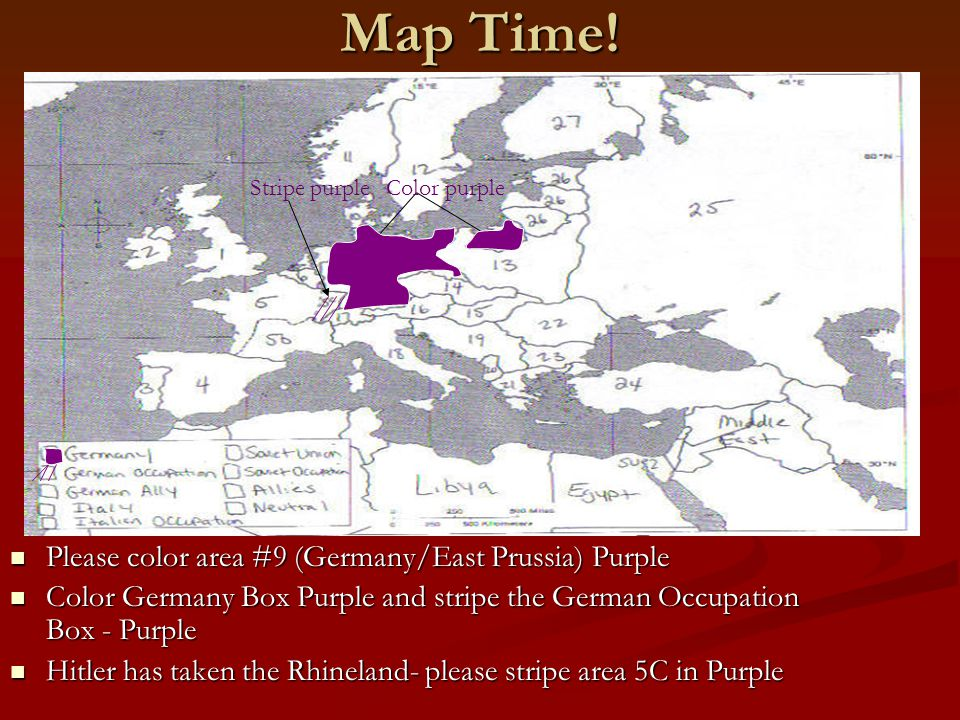 Map Time! Please color area #9 (Germany/East Prussia) Purple