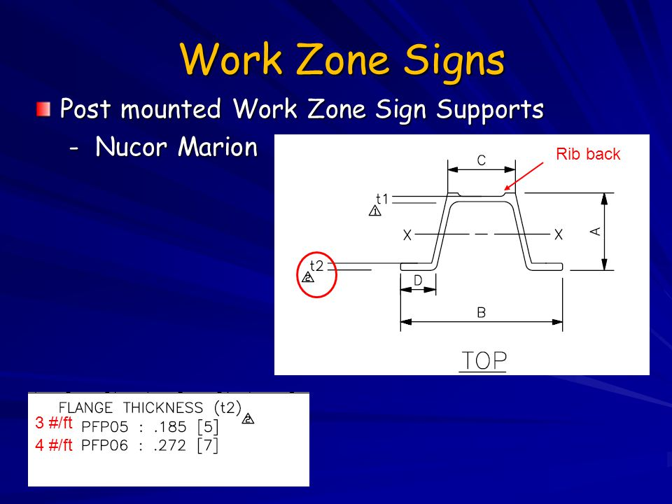 Work Zone Signs Post mounted Work Zone Sign Supports - Nucor Marion
