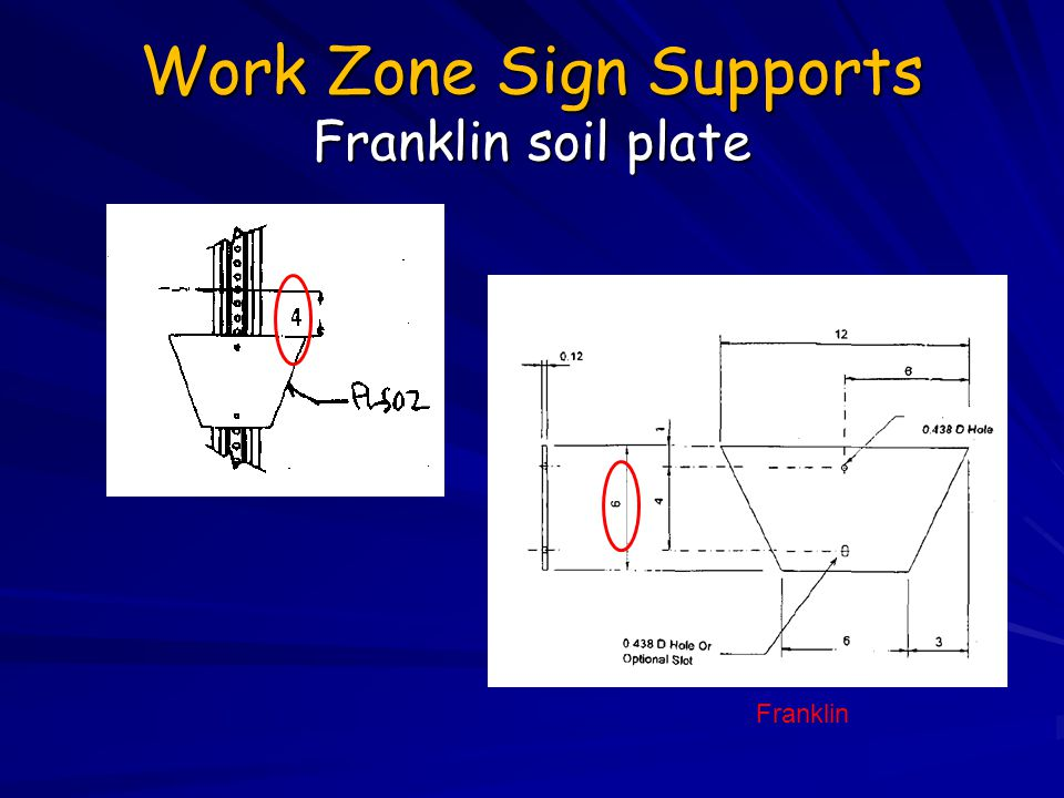 Work Zone Sign Supports Franklin soil plate
