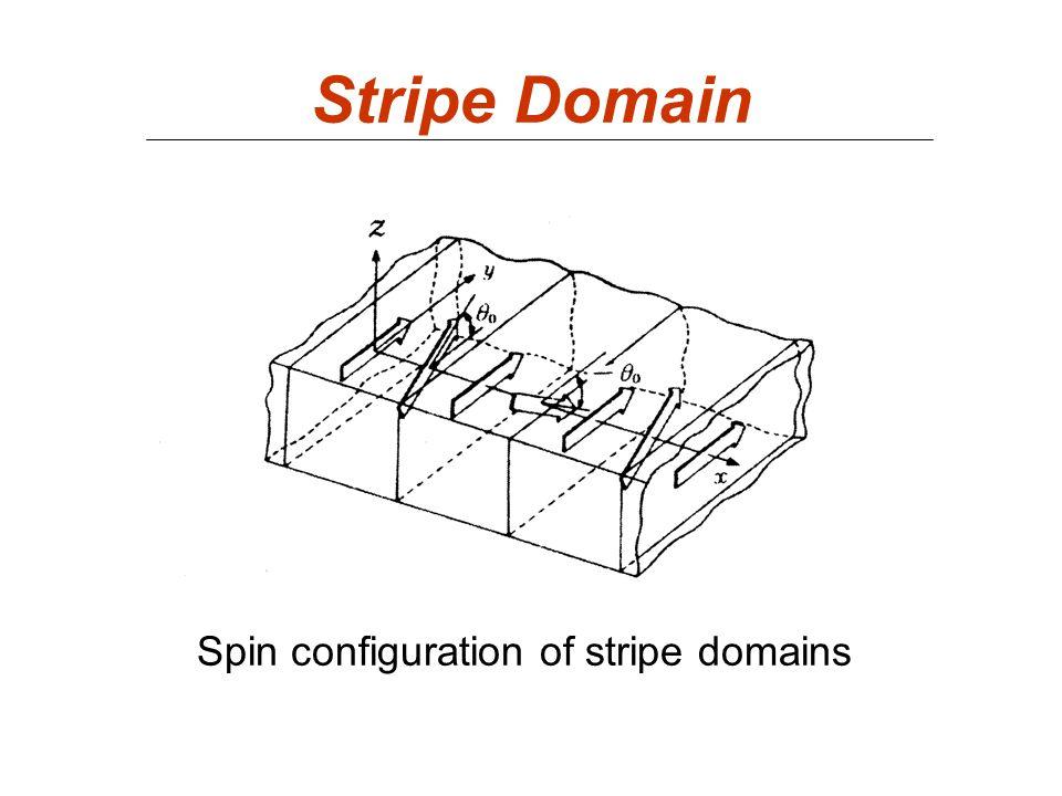 Stripe Domain Spin configuration of stripe domains