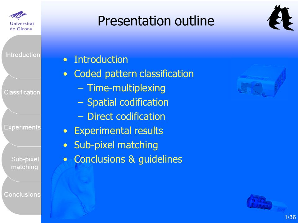 Presentation outline Introduction Coded pattern classification