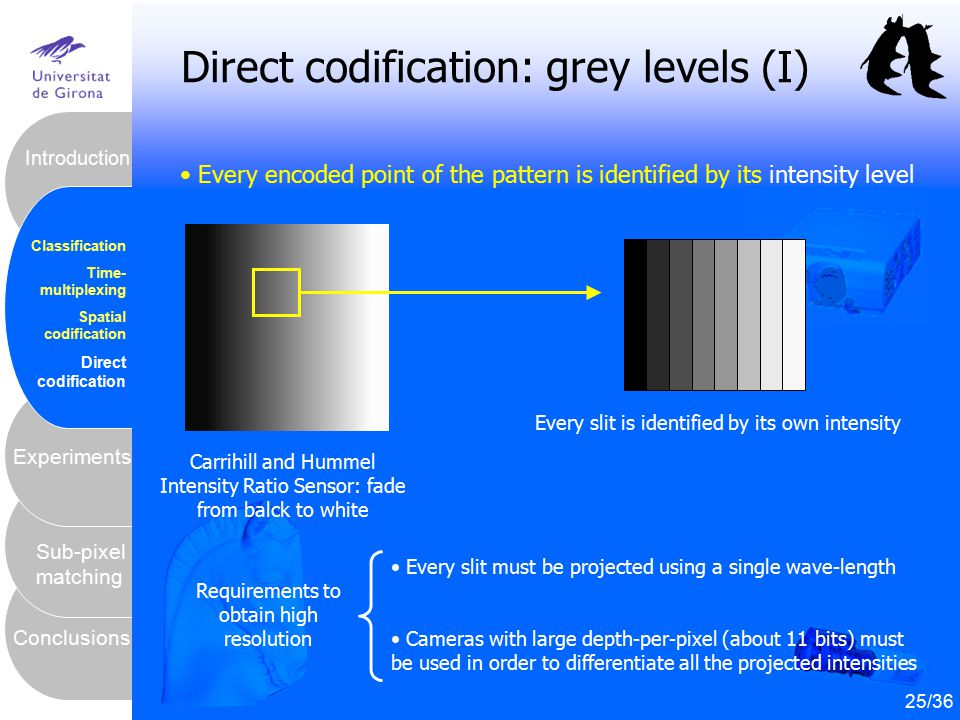 Direct codification: grey levels (I)
