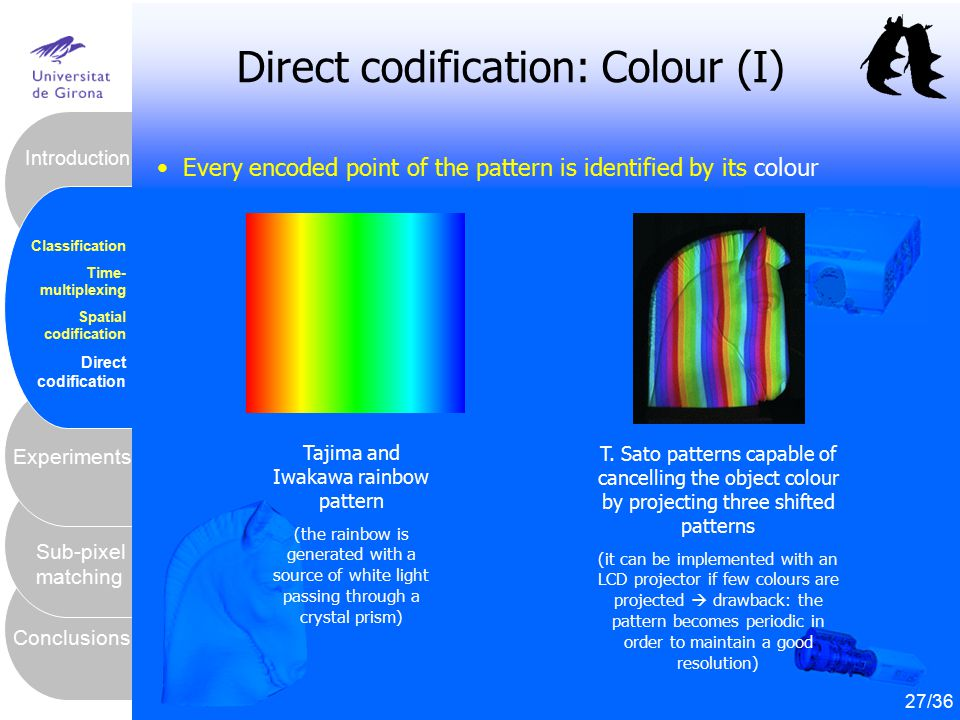Direct codification: Colour (I)