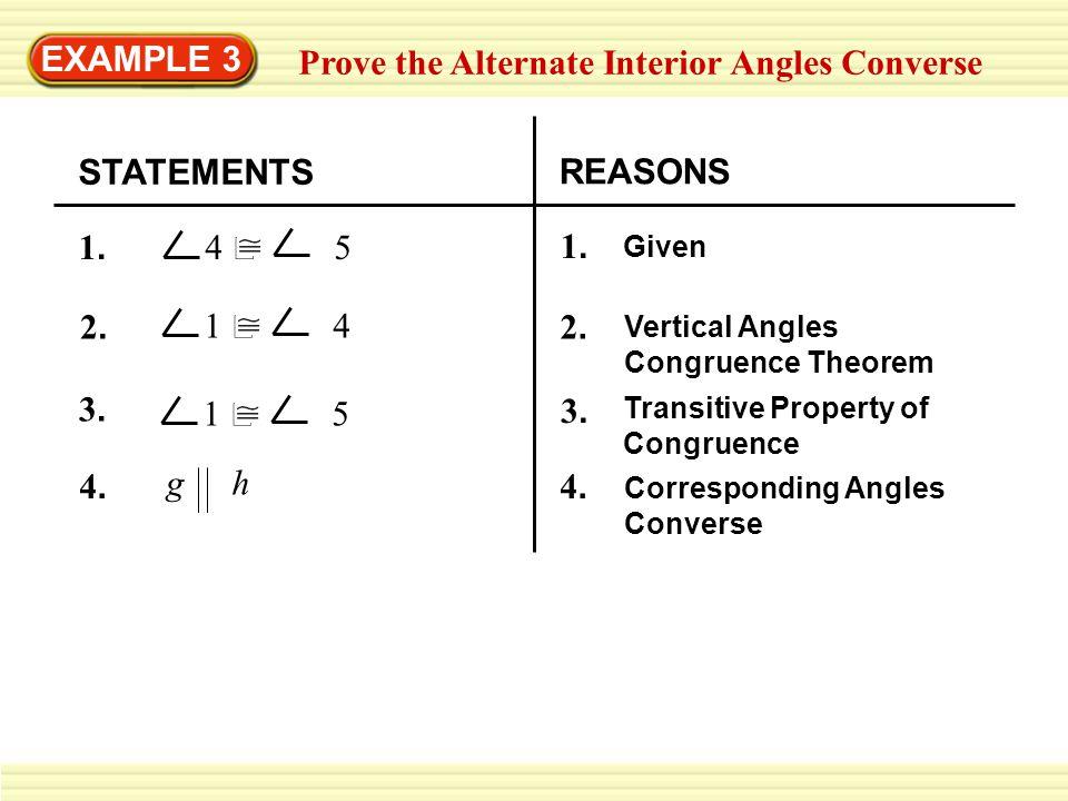 Prove the Alternate Interior Angles Converse