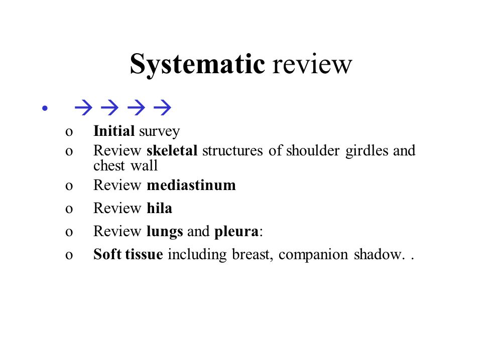 Systematic review     Initial survey