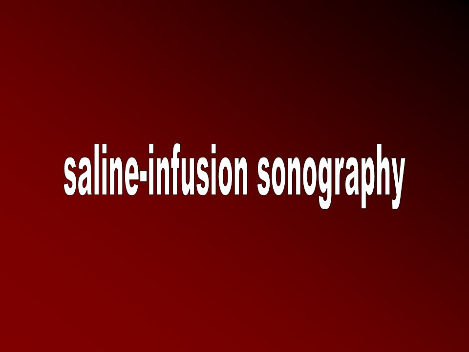 saline-infusion sonography