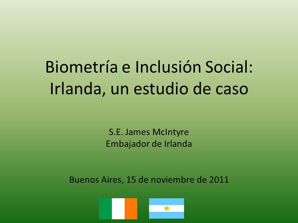 Biometría e Inclusión Social: Irlanda, un estudio de caso