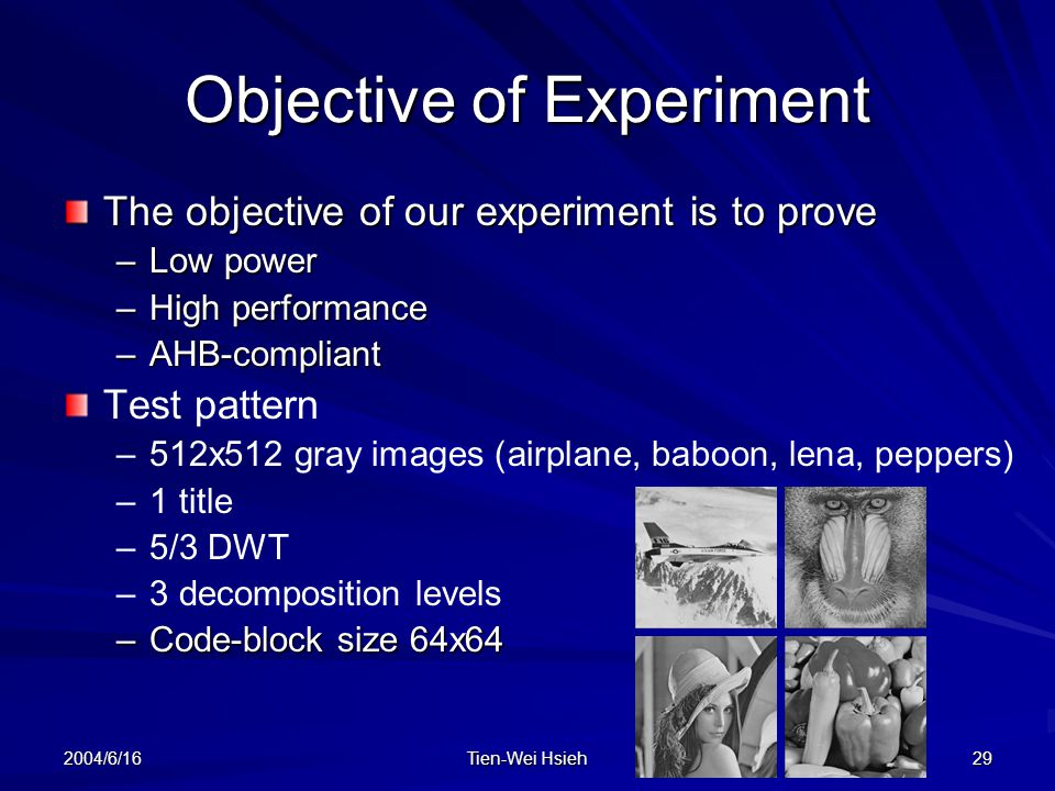 Objective of Experiment