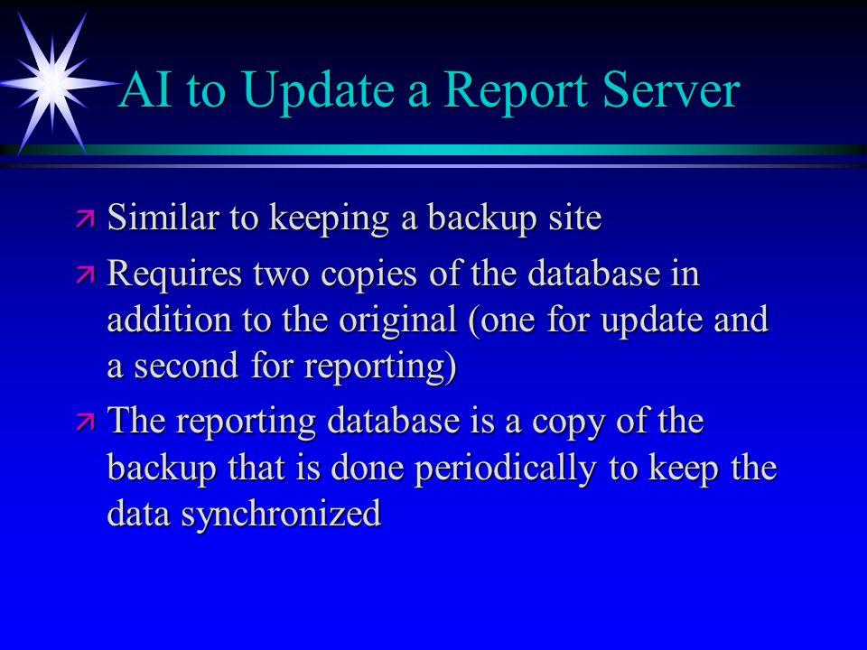 AI to Update a Report Server