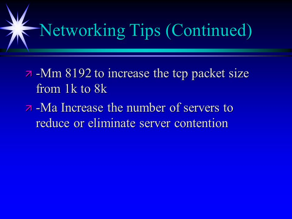 Networking Tips (Continued)
