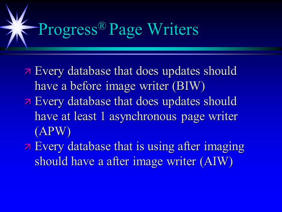 Progress® Page Writers