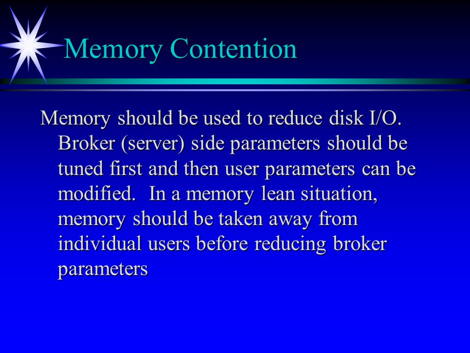 Memory Contention