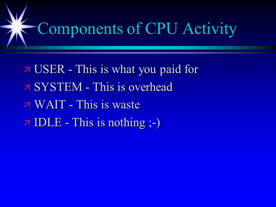Components of CPU Activity