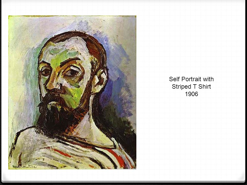 Self Portrait with Striped T Shirt 1906