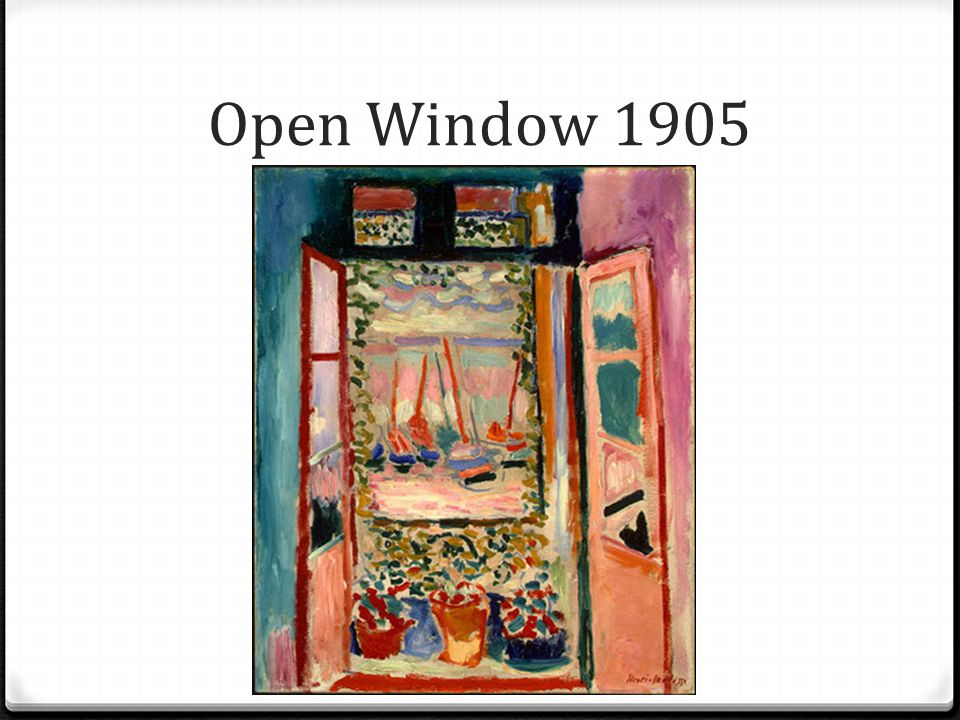 Open Window 1905
