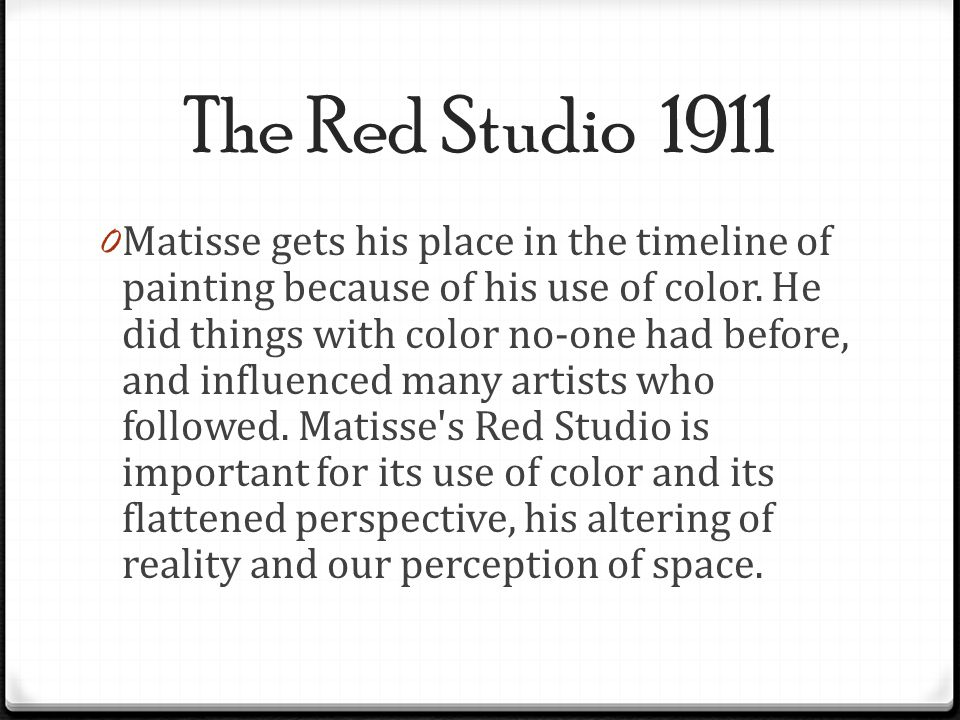 The Red Studio 1911