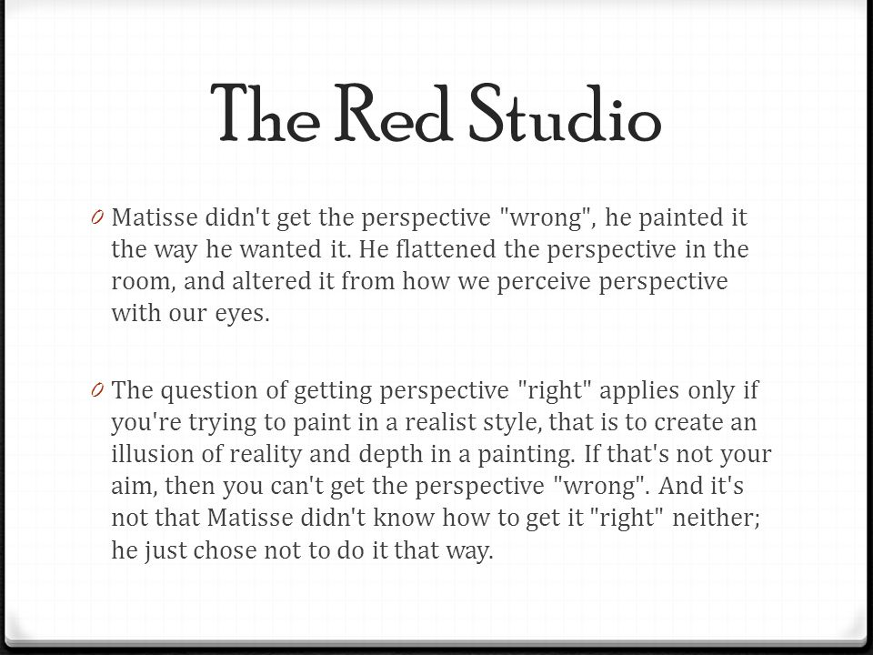 The Red Studio