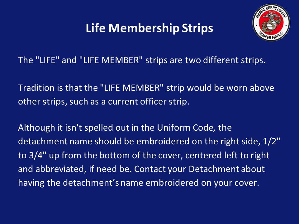 Life Membership Strips