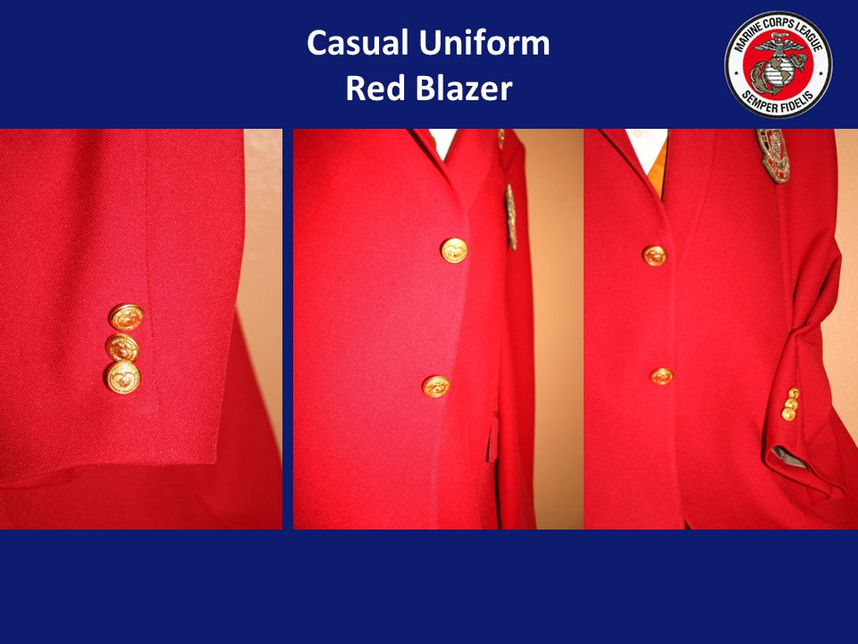 Casual Uniform Red Blazer