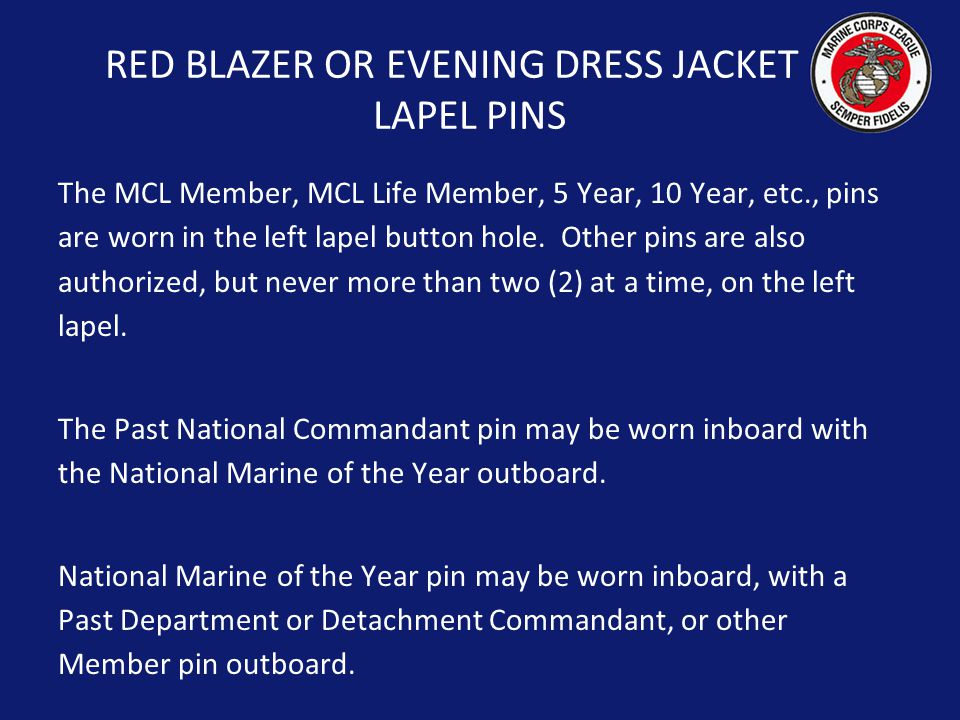 RED BLAZER OR EVENING DRESS JACKET LAPEL PINS