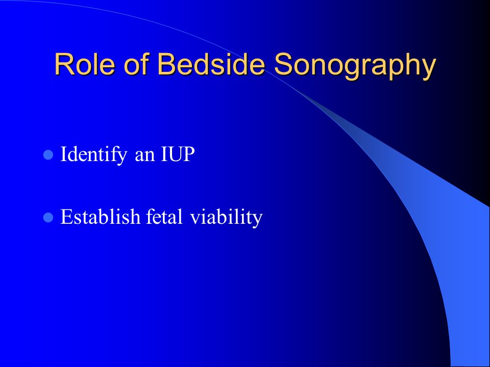 Role of Bedside Sonography