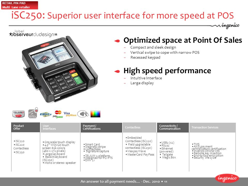 iSC250: Superior user interface for more speed at POS