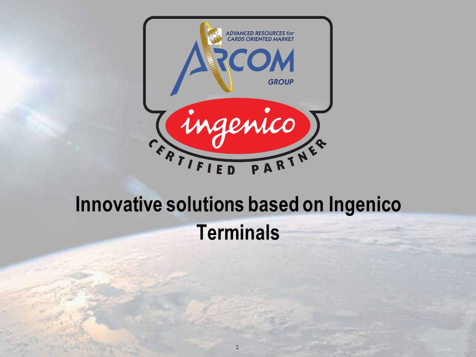 Innovative solutions based on Ingenico Terminals