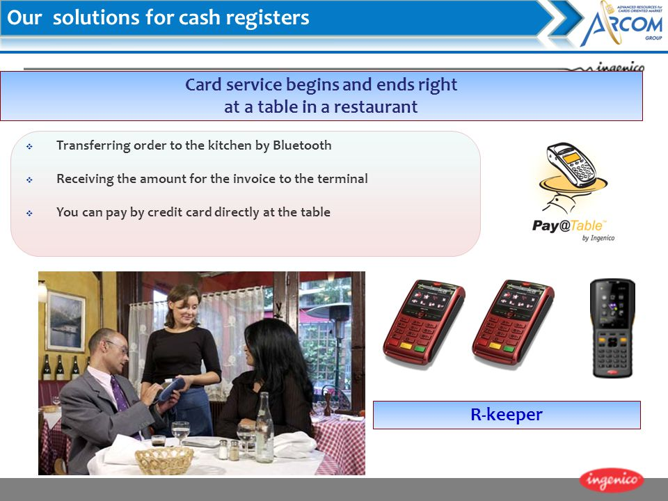 Card service begins and ends right at a table in a restaurant