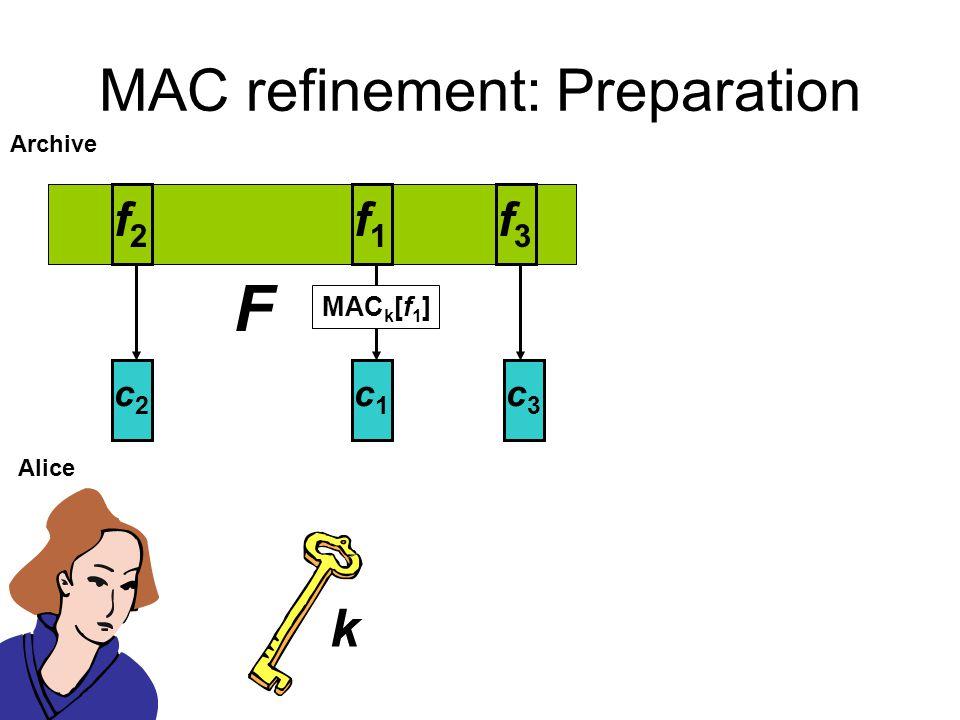MAC refinement: Preparation