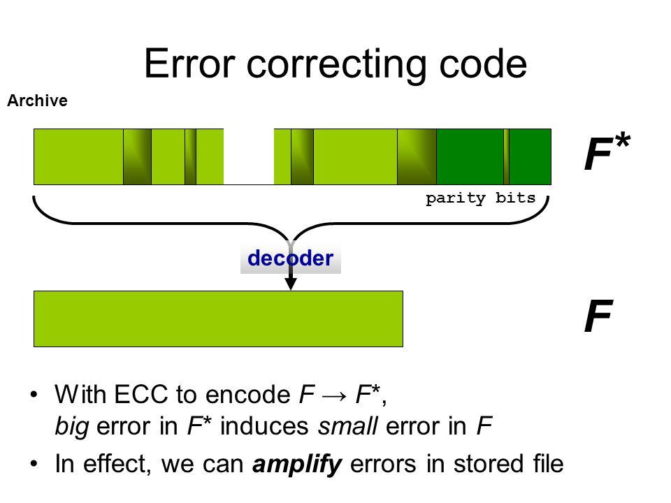 * F F Error correcting code