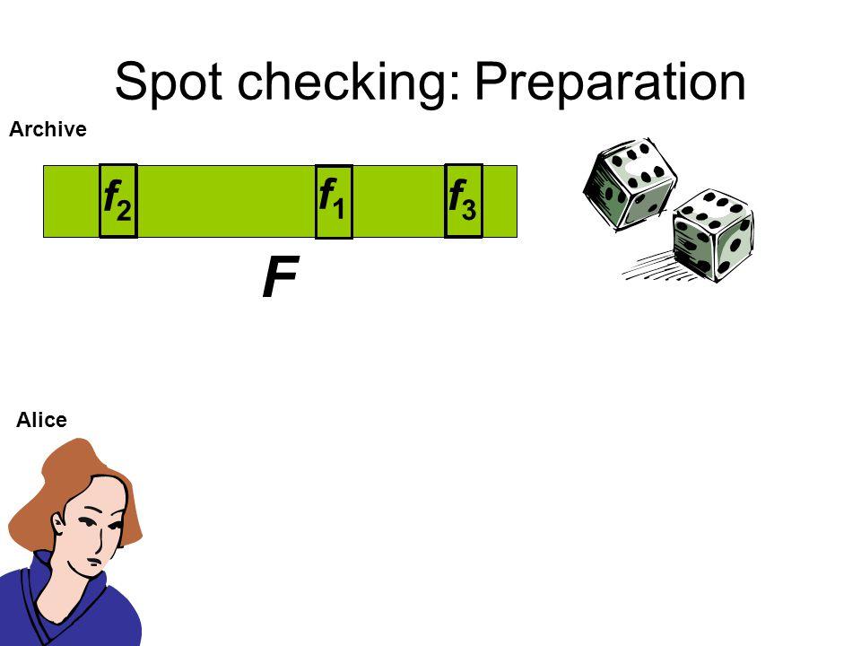 Spot checking: Preparation
