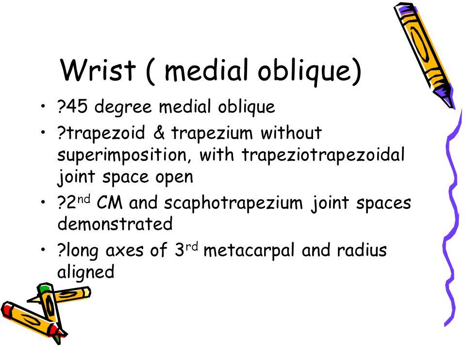 Wrist ( medial oblique)