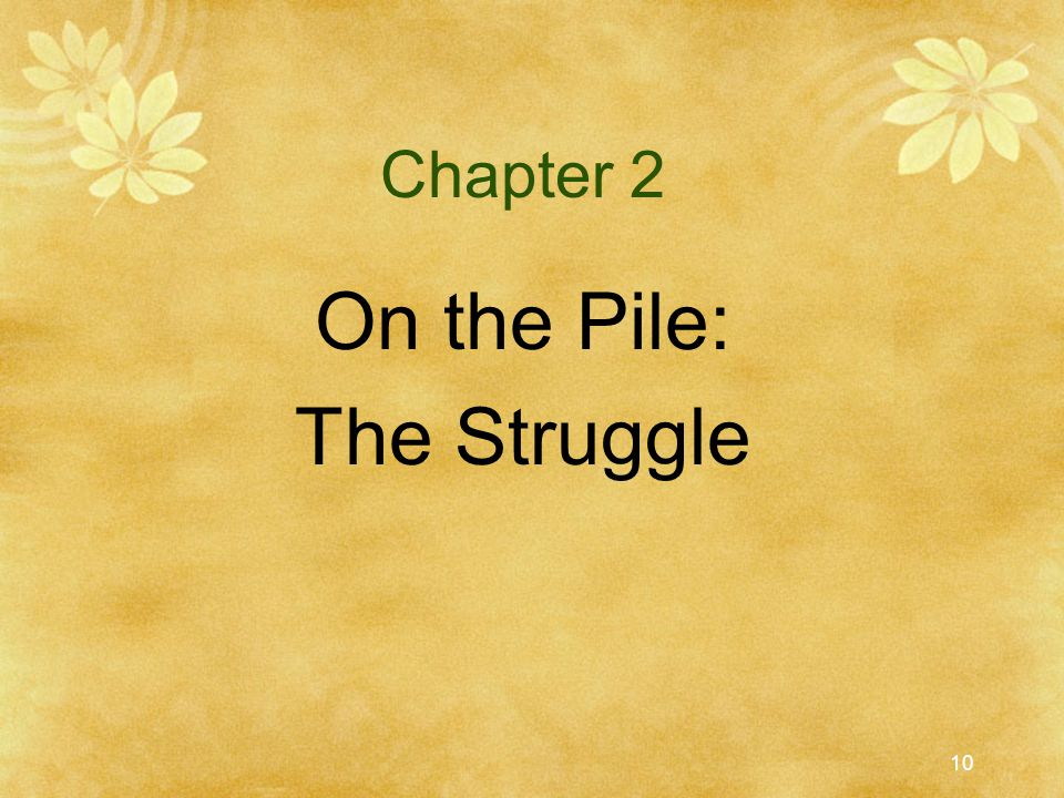 Chapter 2 On the Pile: The Struggle
