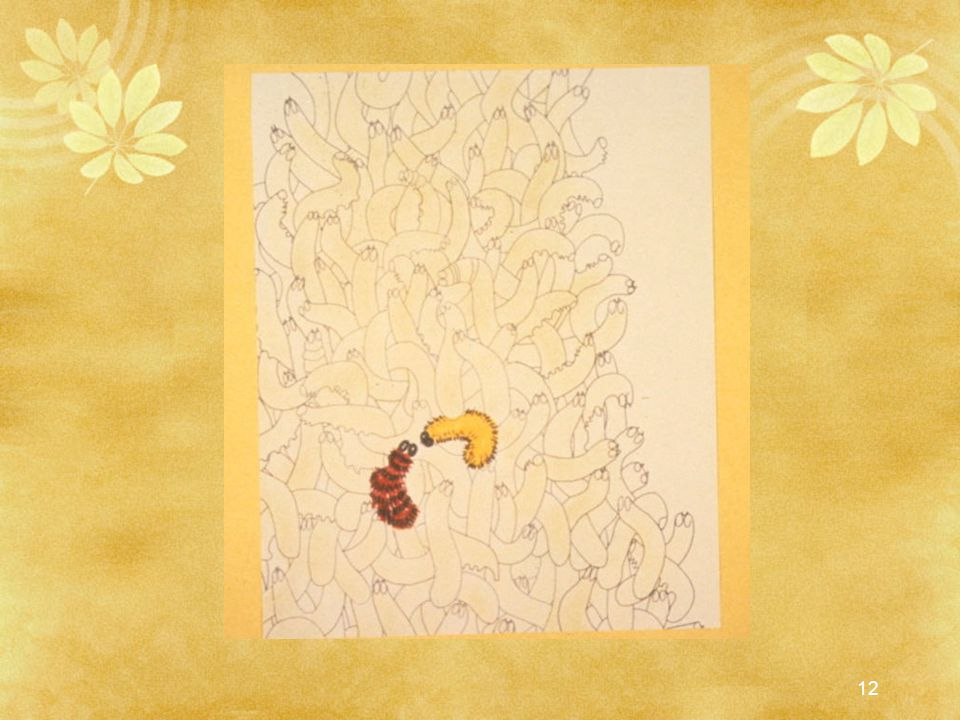 A little yellow caterpillar he was crawling over gasped: