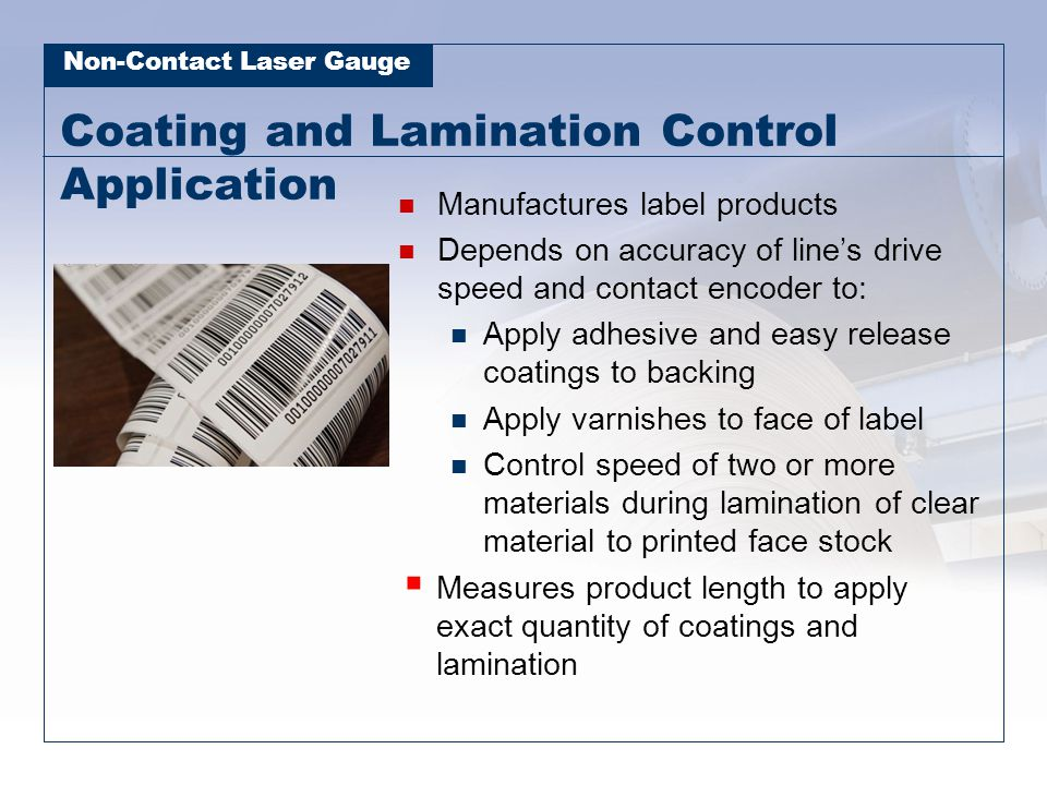 Coating and Lamination Control Application