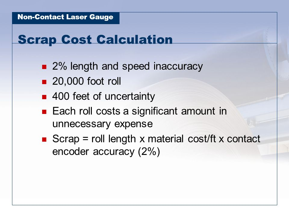 Scrap Cost Calculation