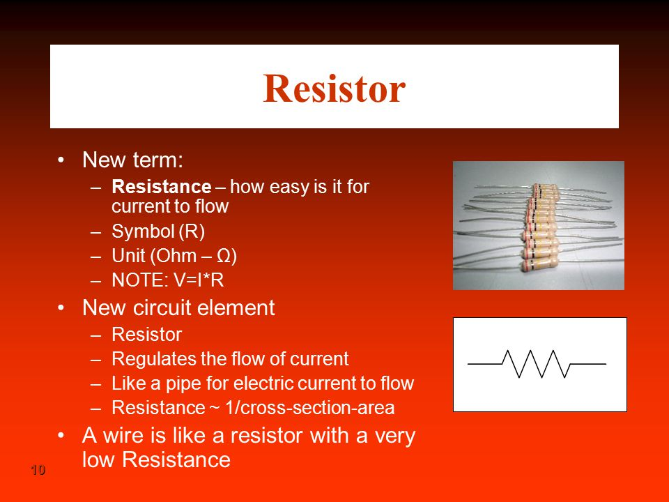Resistor New term: New circuit element