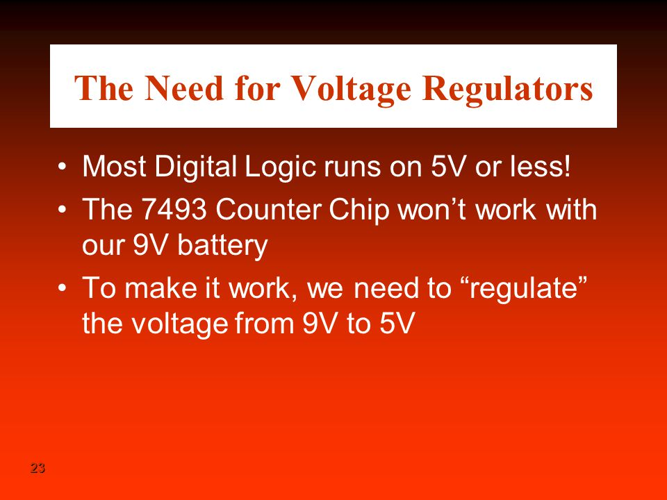 The Need for Voltage Regulators