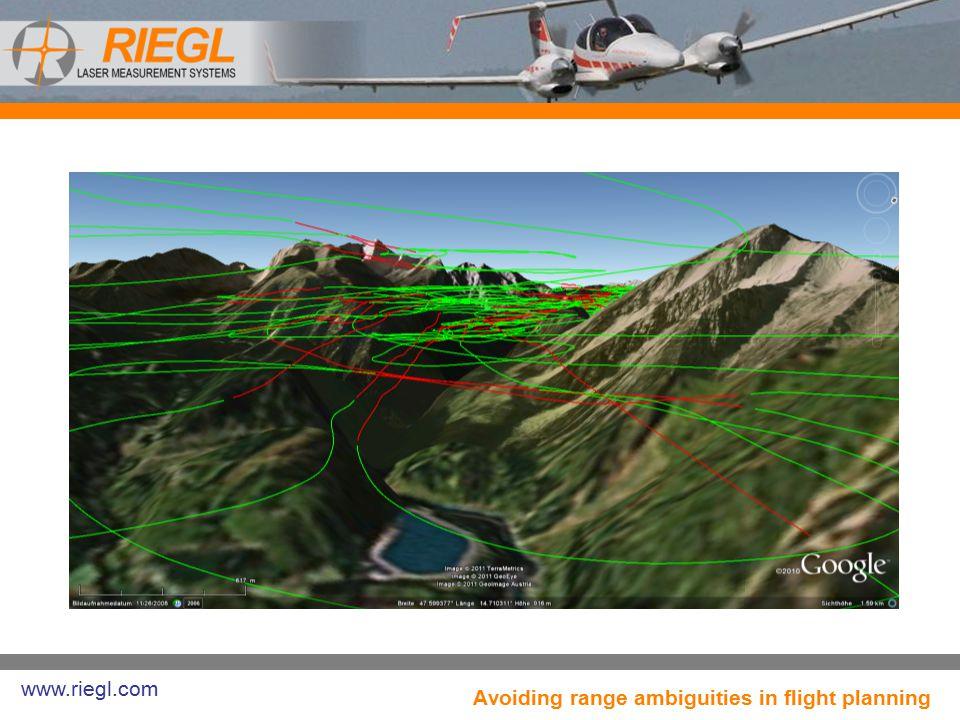 Avoiding range ambiguities in flight planning