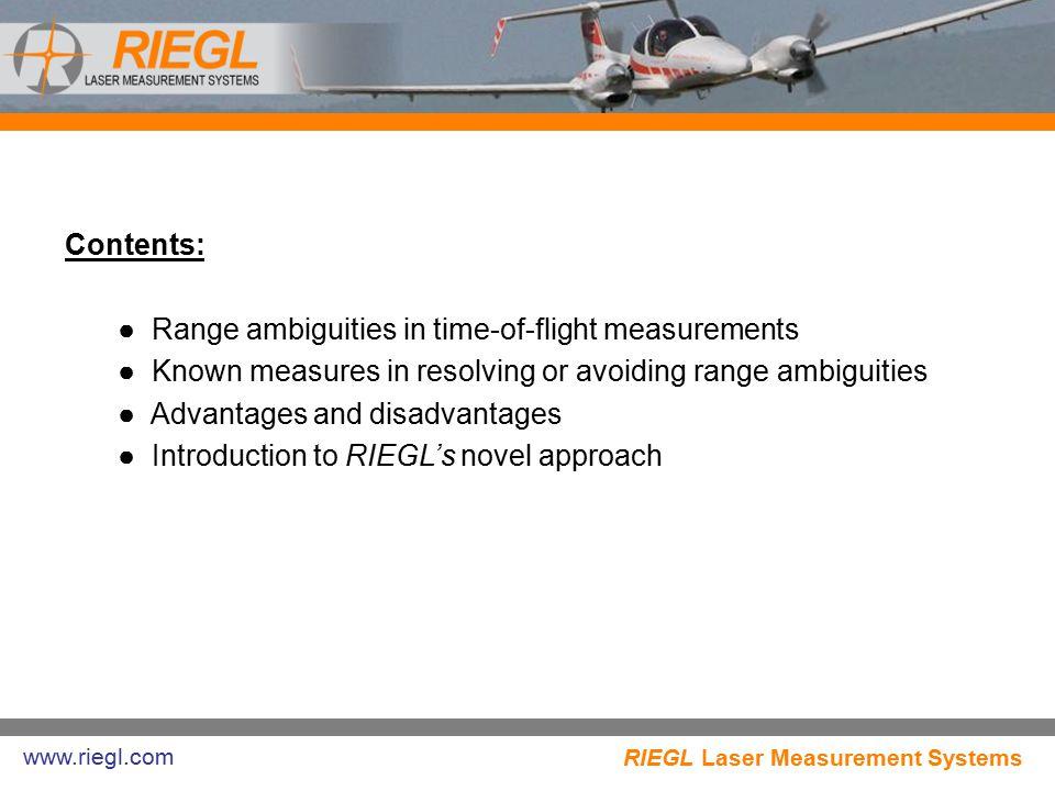 Range ambiguities in time-of-flight measurements